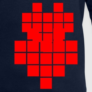 Aqua Heart - Pixel Big Ladies' - Men's Sweatshirt by Stanley & Stella