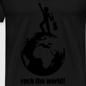 Schwarz rock the world! Tops - Männer Premium T-Shirt