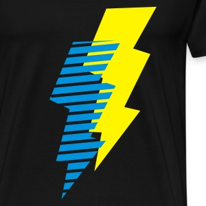 Schwarz blitz - flash - power - electro Tops - Männer Premium T-Shirt