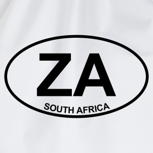 White ZA South Africa Tops - Drawstring Bag