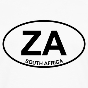 White ZA South Africa Tops - Men's Premium Longsleeve Shirt