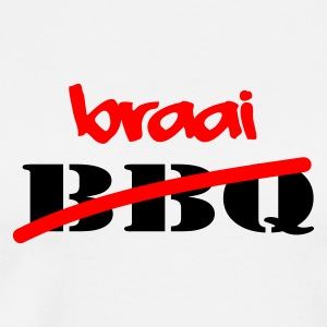White Braai Not BBQ Tops - Men's Premium T-Shirt