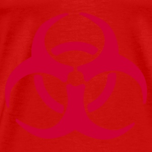 Red Biohazard Warning Tops - Men's Premium T-Shirt