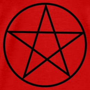 Red Pentagram / Pentacle Tops - Men's Premium T-Shirt