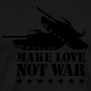 Olive Make love not war 1clr Men's Tees - Men's Premium T-Shirt