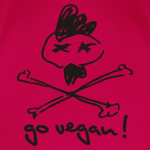 Womens Spaghetti-Top 'go vegan!' - Frauen Premium T-Shirt