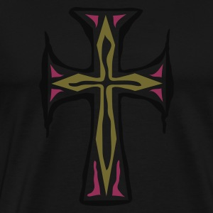 Oliven Cross T-shirts - Herre premium T-shirt