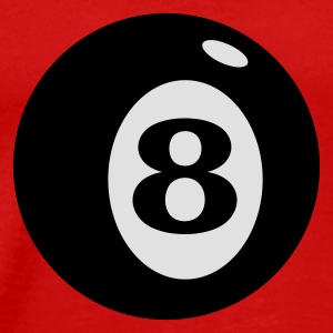 Red Billiardkugel 8 / number 8 ball (2c) Tops - Men's Premium T-Shirt