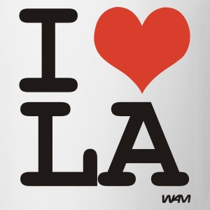 Bianco i love Los Angeles by wam Top - Tazza