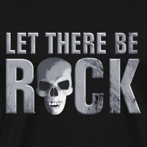 let_there_be_rock_skull_grey Toppe - Herre premium T-shirt