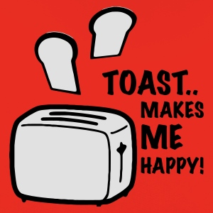 Orange toast makes me happy T-Shirts - Kinder Premium Hoodie