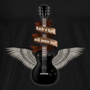 rock_guitar_b_black Tops - Men's Premium T-Shirt