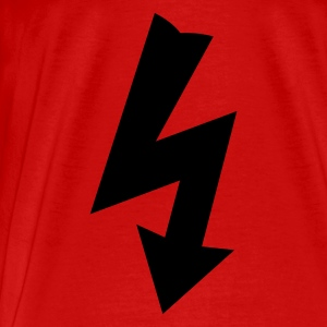 Red Electricity Symbol Tops - Men's Premium T-Shirt
