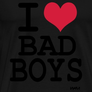 Svart i love bad boys by wam Toppar - Premium-T-shirt herr