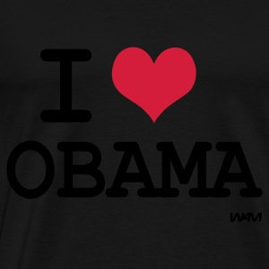 Negro i love Obama by wam Tops - Camiseta premium hombre