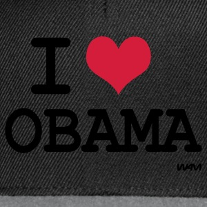 Negro i love Obama by wam Tops - Gorra Snapback