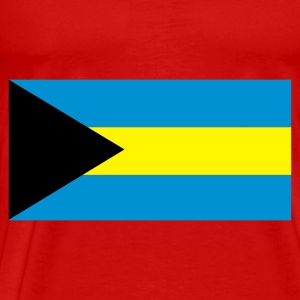 Red Flag of the Bahamas Tops - Men's Premium T-Shirt