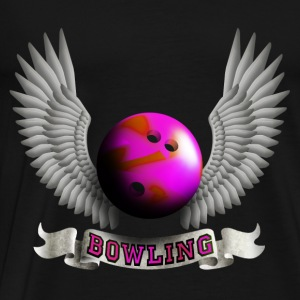 bowling_wings_b Toppe - Herre premium T-shirt
