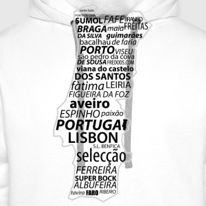 Blanc Portugal_Word T-shirts - Sweat-shirt à capuche Premium pour hommes