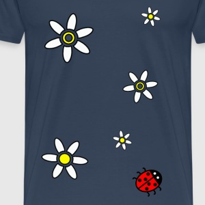 Sommer Spring Daisy and Ladybird Tank Top - Men's Premium T-Shirt