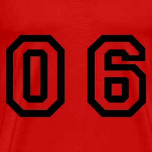 Red number - 06 - zero six Tops - Men's Premium T-Shirt