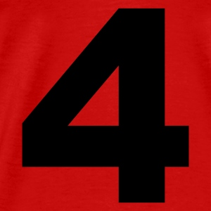 Red number - 4 - four Tops - Men's Premium T-Shirt