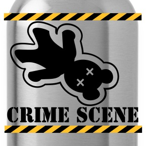 Sort gerningssted teddy / crime scene teddy (2c) T-shirts - Drikkeflaske