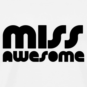 Weiß miss awesome Tops - Männer Premium T-Shirt
