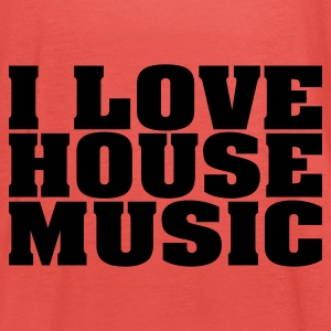 Goudoranje i_love_house_music T-shirts - Vrouwen tank top van Bella