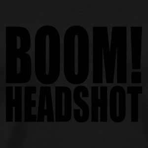 Black BOOM headshot Tops - Men's Premium T-Shirt