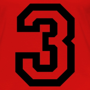 Red number - 3 - three Tops - Women's Premium Longsleeve Shirt