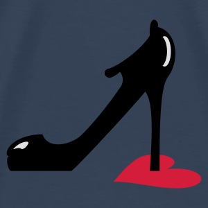 Turquoise highheel step on heart (3c) Tops - Mannen Premium T-shirt