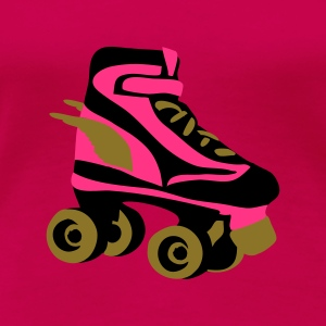 Pink roller skate wings by patjila Tops - Women's Premium T-Shirt