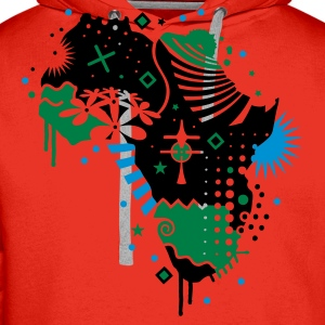 Red Africa cradle of humanity  Tops - Men's Premium Hoodie