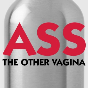 Golden orange Ass The Other Vagina (2c) Men's T-Shirts - Water Bottle