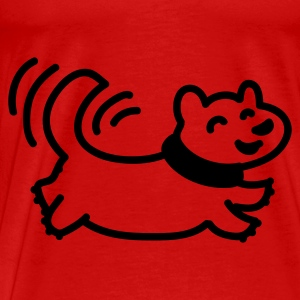 Rot Happy dog - Line Tops - Männer Premium T-Shirt