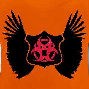 Oranje winged Biohazard Monster Emblem (2c) Kinder shirts - Baby T-shirt