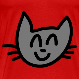 Rot Cat Smile Tops - Männer Premium T-Shirt