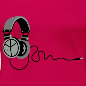 Pink peace_headphones Tops - Women's Premium T-Shirt