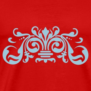 Rood baroque ornament (1c) Tops - Mannen Premium T-shirt