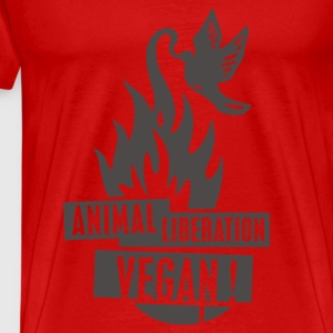 Womens Tank-Top 'animal liberation vegan' NeoOrange - Men's Premium T-Shirt
