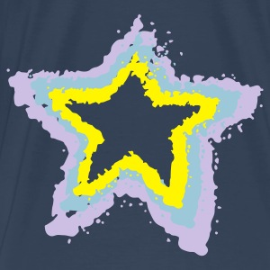 Aqua 3 stars, overspray of paint Tops - Men's Premium T-Shirt