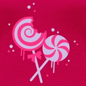 Pink Pink candy lollipops on a stick Tops - Women's Premium T-Shirt