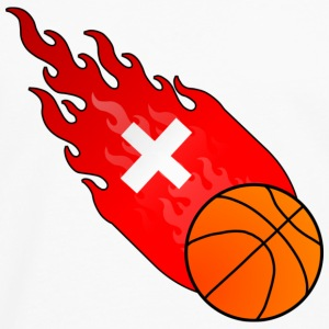 Fireball Basketball Sveits - Premium langermet T-skjorte for menn