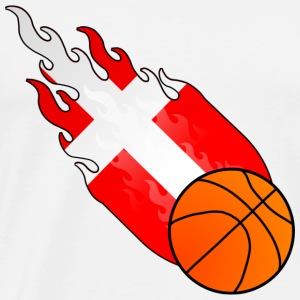 Basket-ball Fireball Danemark - T-shirt Premium Homme