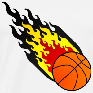Fireball Basketball Belgium - Men's Premium T-Shirt