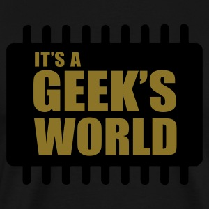 Oliven It's A Geek's World T-shirts - Herre premium T-shirt
