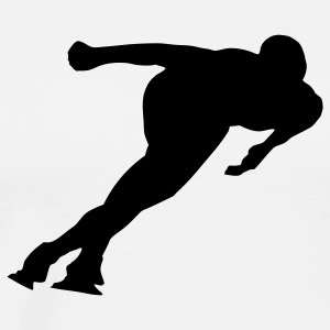 speed skating Men's T-Shirts - Men's Premium T-Shirt