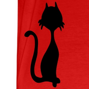 retro kitty silhouette by Patjila Tops - Men's Premium T-Shirt