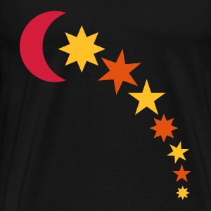 Black moon and stars Tops - Men's Premium T-Shirt